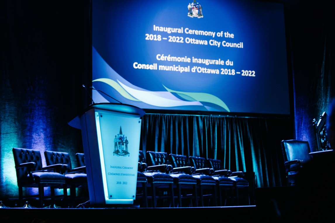 Stage for the City Council inauguration ceremony 2018