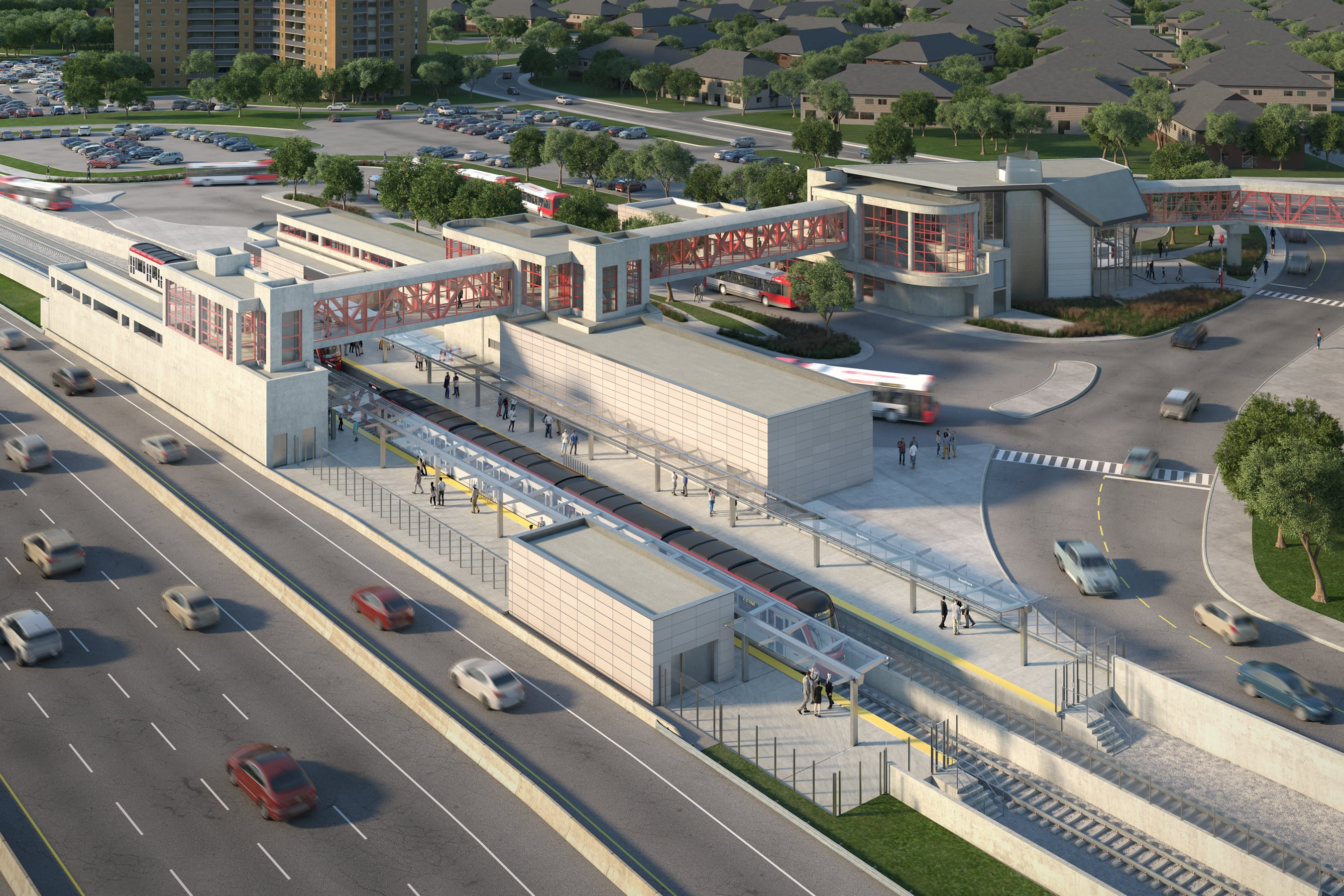This image is an artistic representation of the Bayshore Station design. The final product may not be exactly as shown.