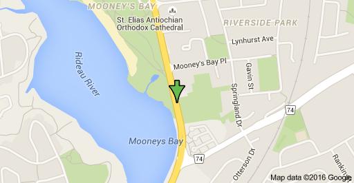 map location of 3071 riverside drive in Ottawa