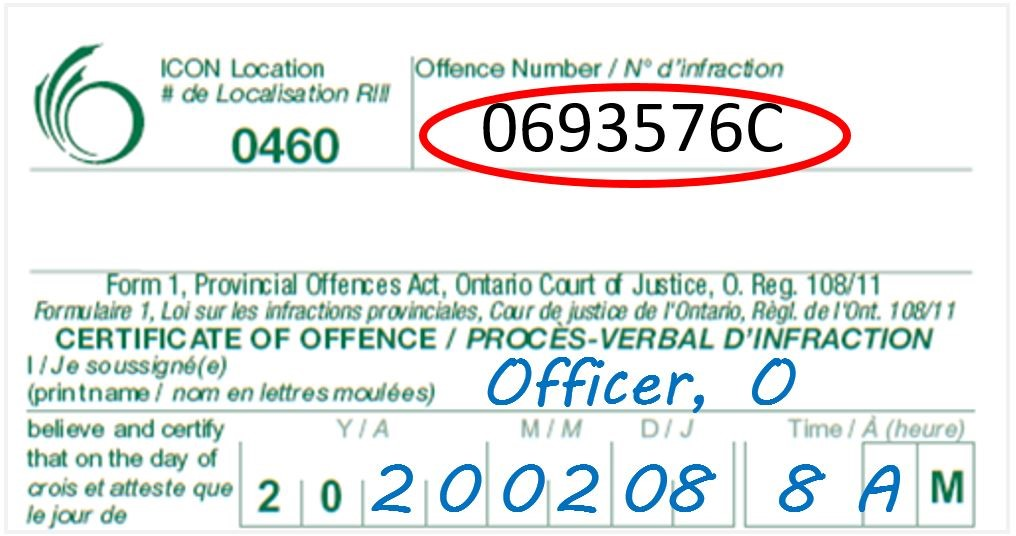 Provincial Offence Notice