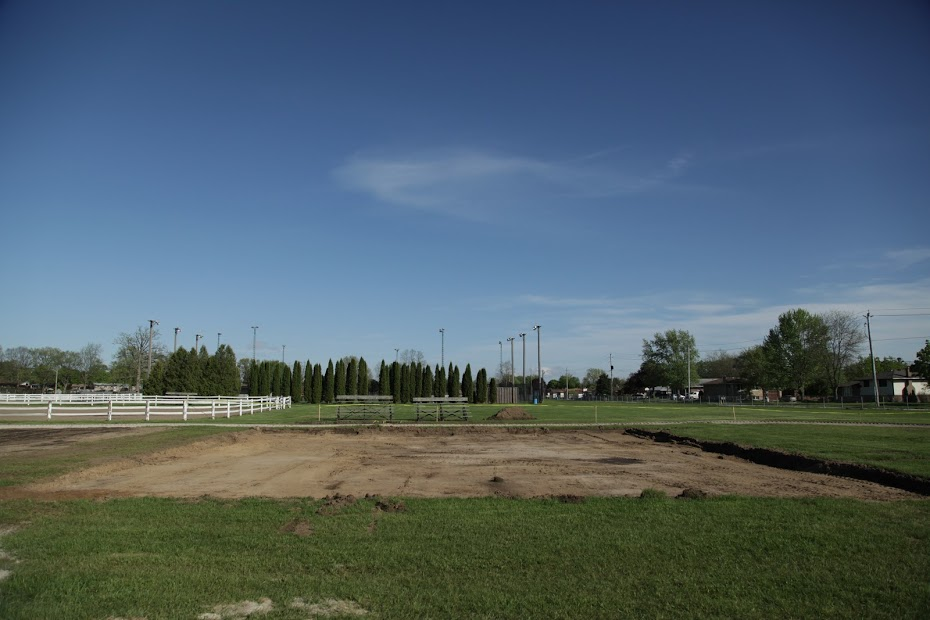 Empty space with sod removed