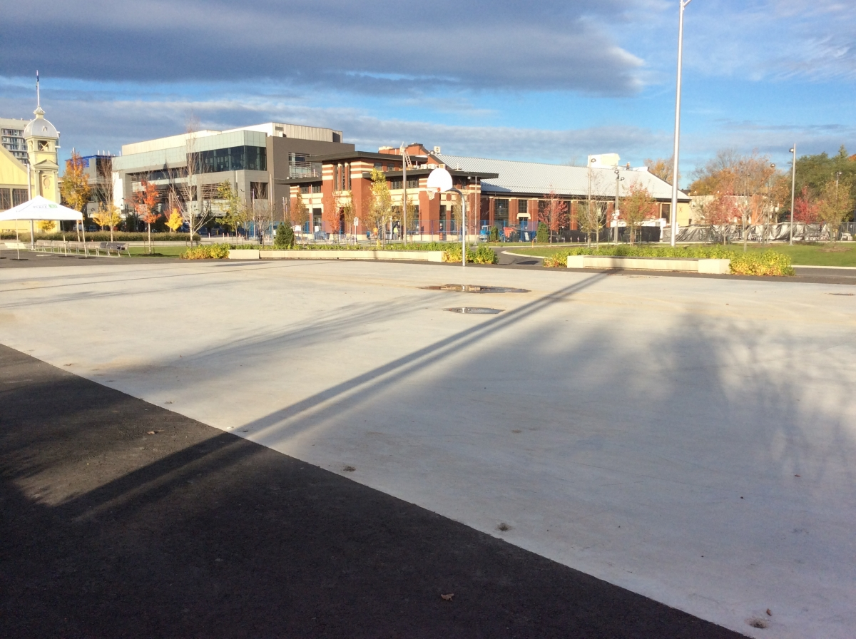 Basketball courts at Lansdowne Park