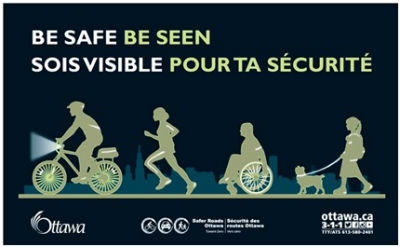 "Be Safe, Be Seen"" poster"