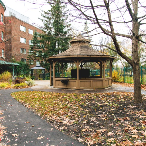 Outdoor space with gazebo