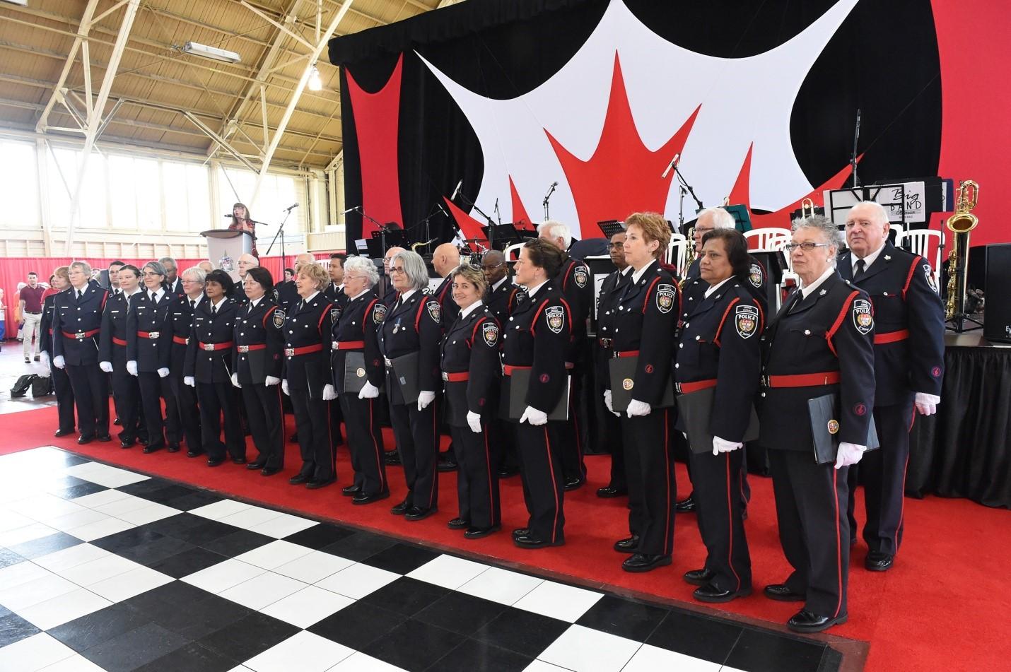 Police choir performing