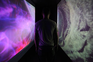 Immersive installation of abstract videos.