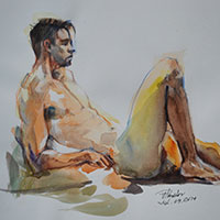 Watercolour Life-Drawing by Victor Pavlov