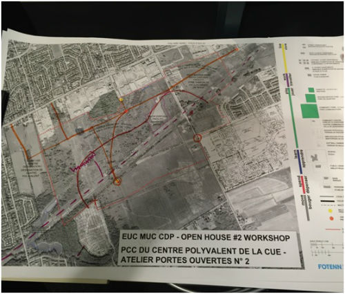 East Urban Community- Mixed Use Centre- Community Design Plan Second Open House Workshop – Table 1 map