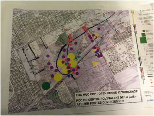 East Urban Community- Mixed Use Centre- Community Design Plan Second Open House Workshop – Table 2 map