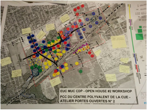 East Urban Community- Mixed Use Centre- Community Design Plan Second Open House Workshop – Table 3 map