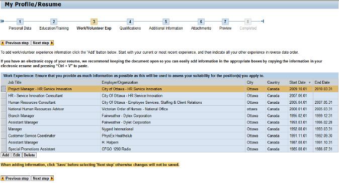 instructions pour cr u00e9er votre profil d u2019emploi en ligne