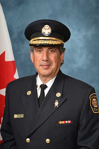 Official Fire Chief Photo of Gerry Pingitore with hat