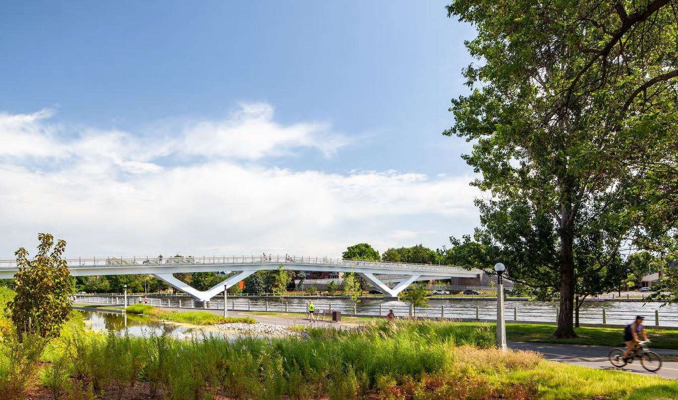 Flora Footbridge in Public Places and Civic Spaces category