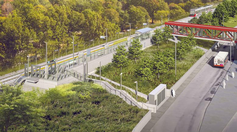 Cette image est une représentation artistique de la conception de Station Greenboro. Le produit final peut ne pas être exactement comme indiqué.