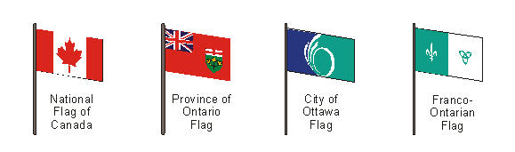 Positioning of flags