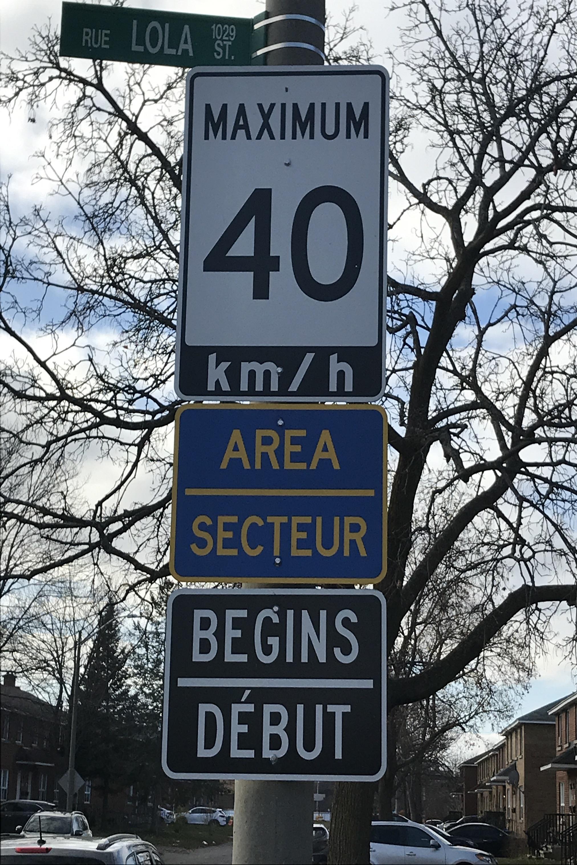 Nouveau panneau de vitesse