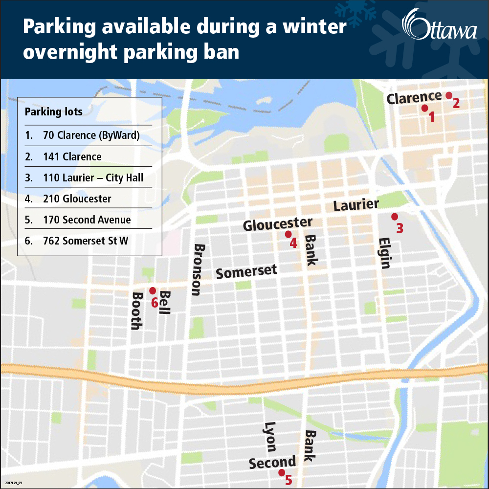Parking during a winter overnight parking ban