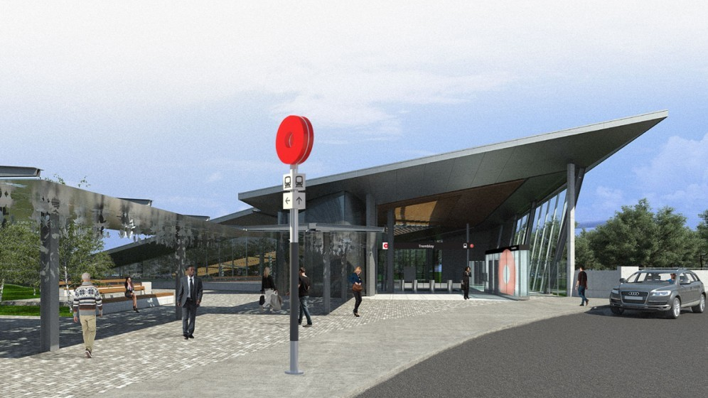 Rendering of Trembay Station