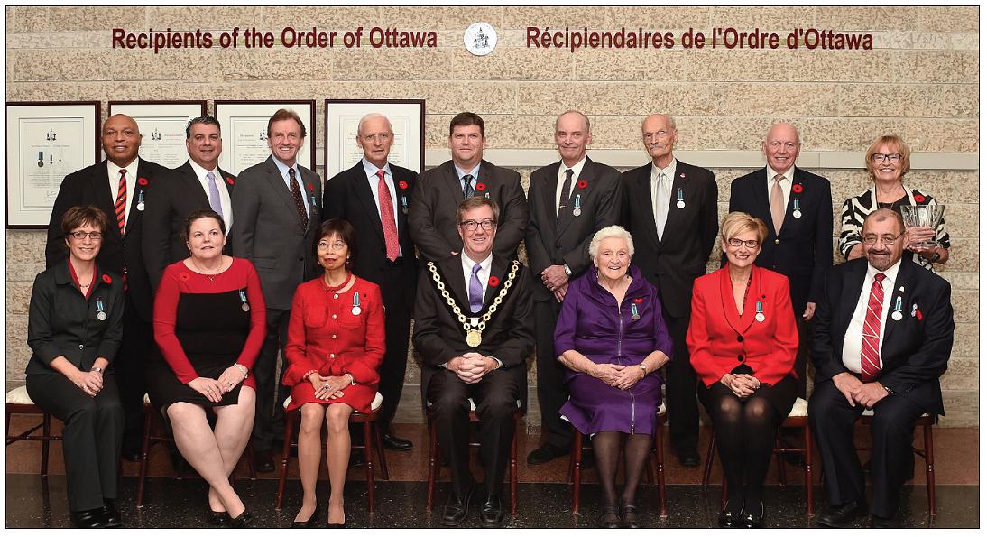 Récipiendaires de l'Order d'Ottawa