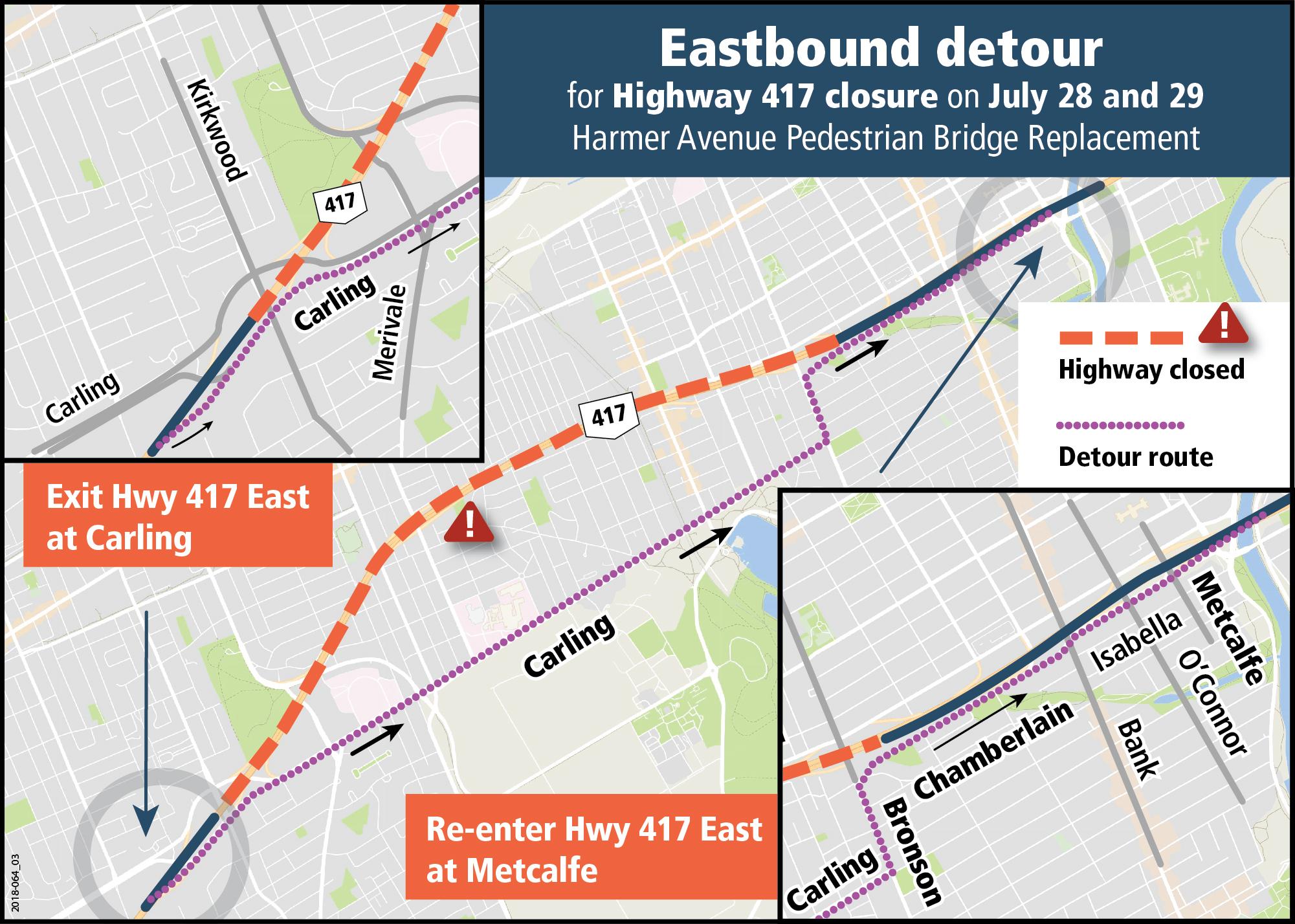 Map of Eastbound Detour