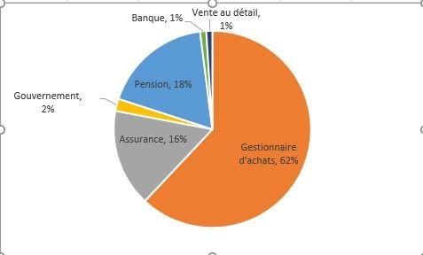 Graphique à secteurs de la répartition des investisseurs par pourcentage. Informations également fournies dans le tableau.