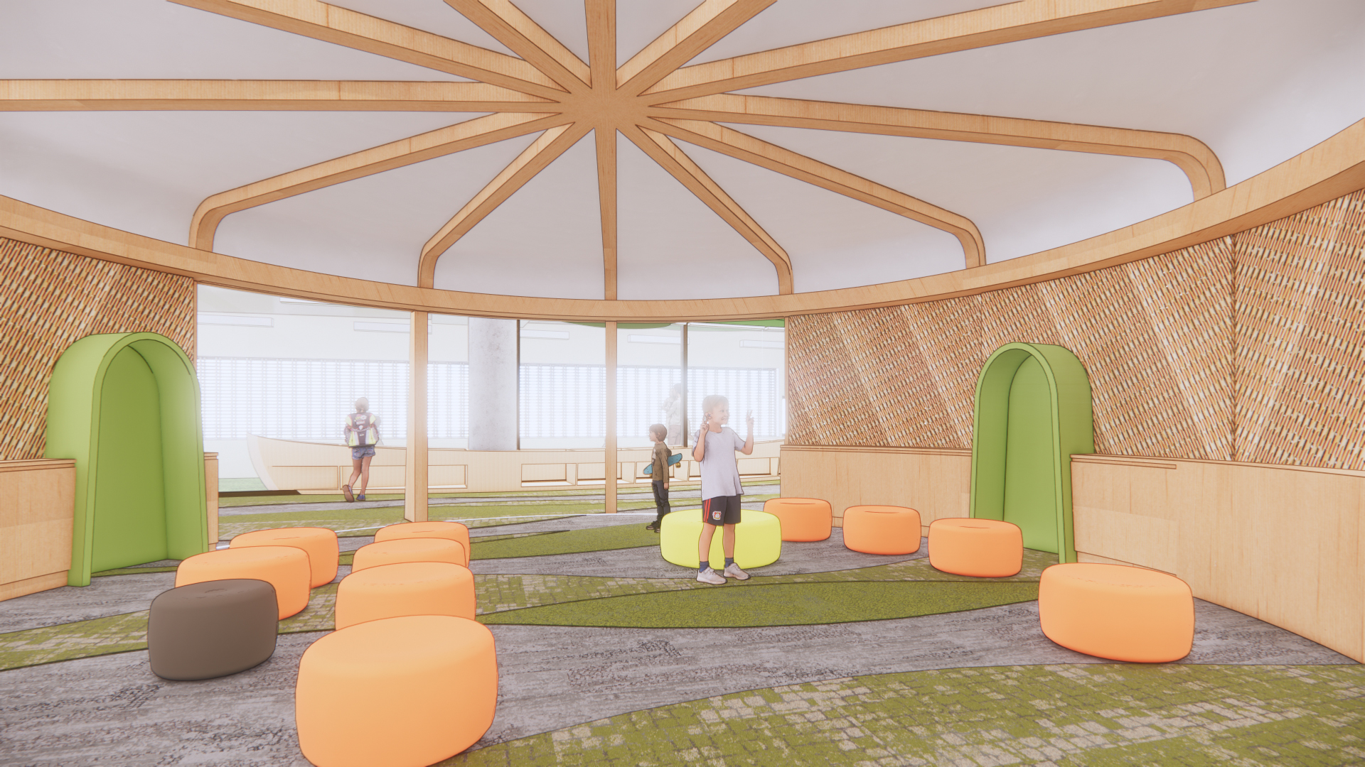 Rendering of the exterior of the Children's Story Room