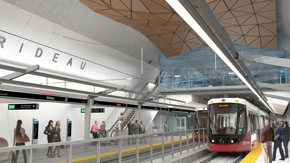 Rendering of Rideau Station