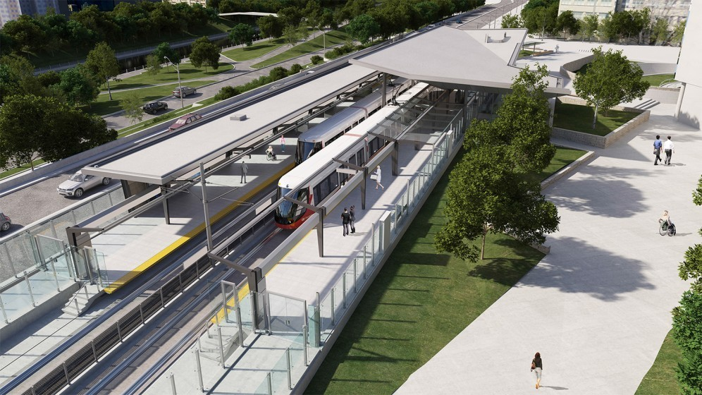 Rendering of uOttawa Station