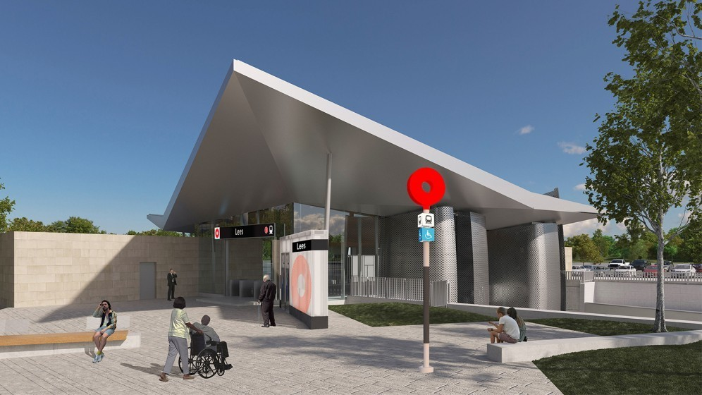 Rendering of Lees Station