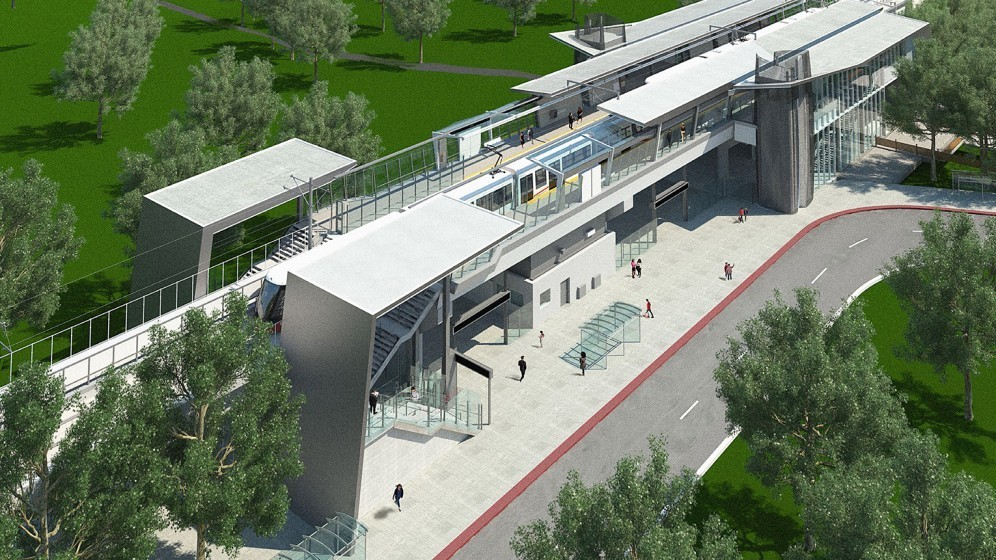 Rendering of Hurdman Station