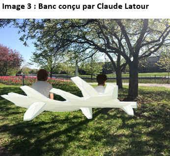 Image 3 : Banc conçu par Claude Latour.