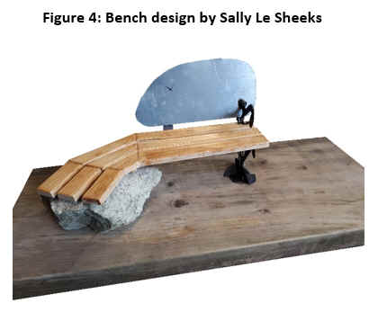 Figure 4: Bench design by Sally Le Sheeks.