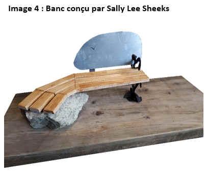 Image 4 : Banc conçu par Sally Lee Sheeks.