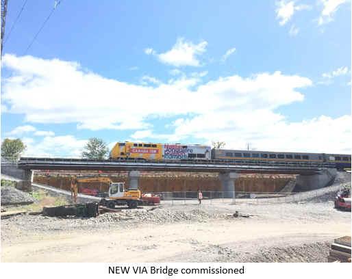 NEW VIA Bridge commissioned.