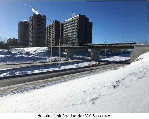 Hospital Link Road under VIA Structure.