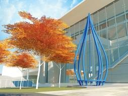 Rendering of public art at Bayview Station
