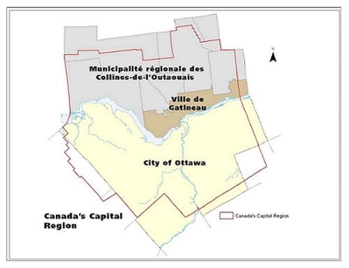 Canada's Capital Region map