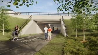 Rendition of the future Churchill pedestrian underpass.