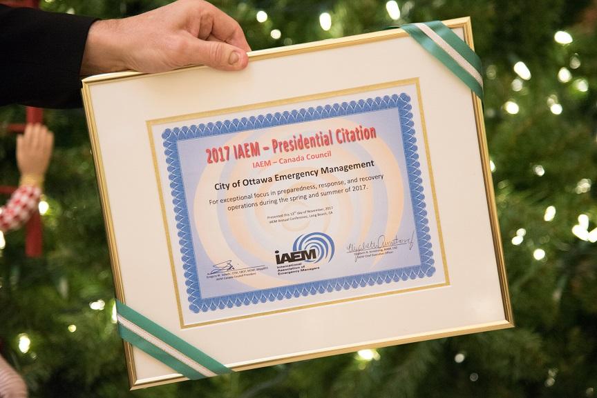 2017 IAEM - Presidential Citation