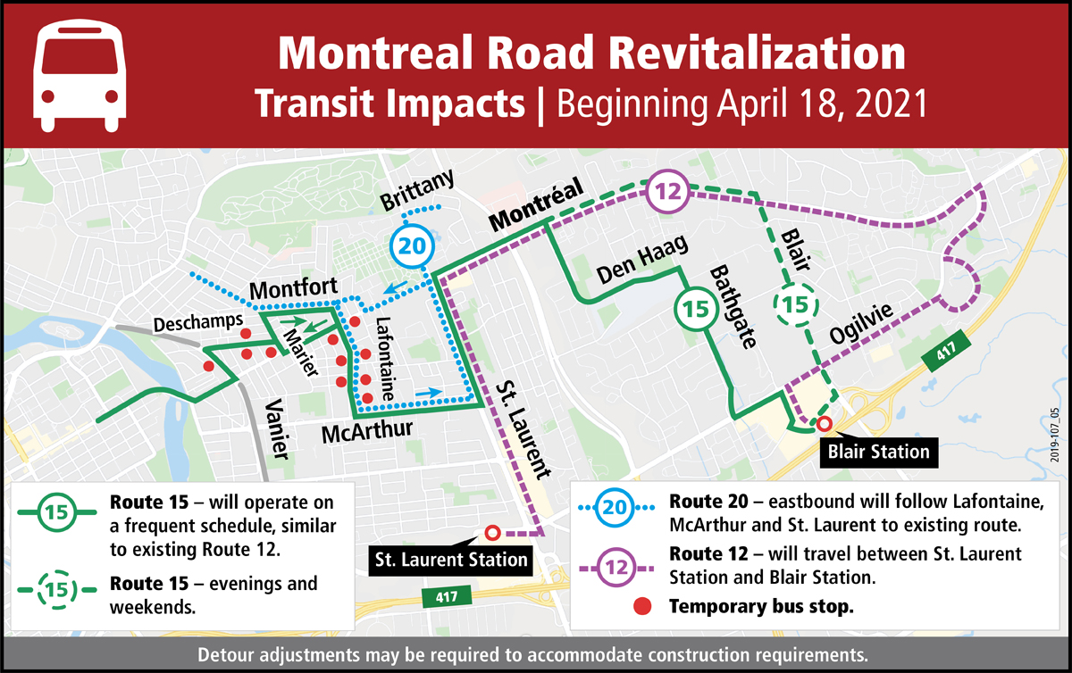 bus route modifications.