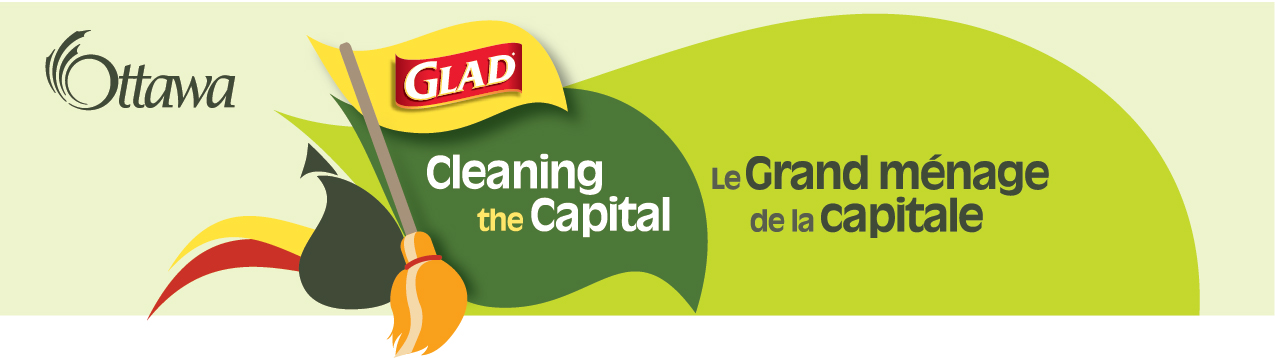 GLAD Cleaning the Capital logo, in colour.