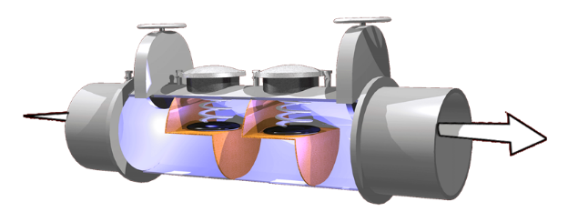 Double Check Valve Assembly showing two check valves.