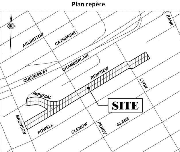 Plan repère indiquant les limites du projet.