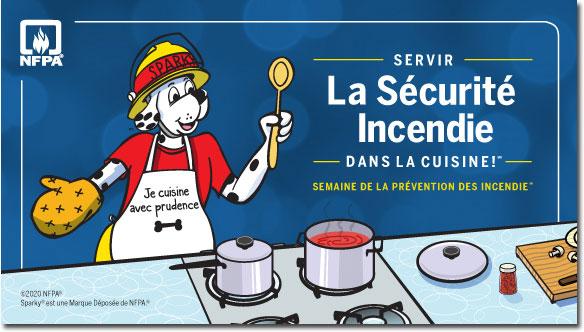 Servir la sécurité incendie dans la cuisine pour la Semaine de la prévention des incendies