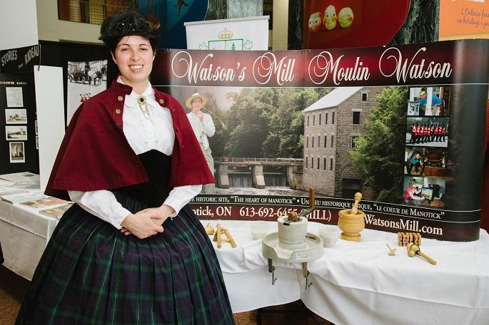 woman in costume, Watson's Mill