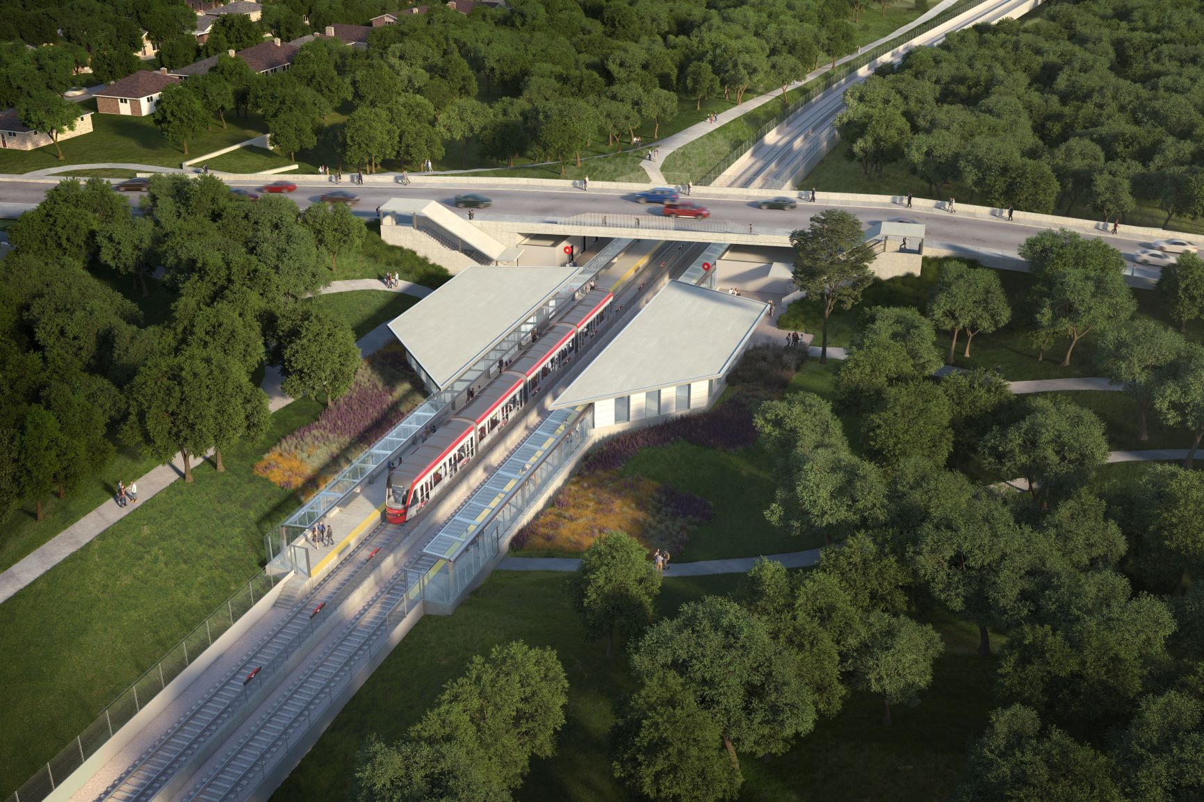 This image is an artistic representation of the Iris Station design. The final product may not be exactly as shown.