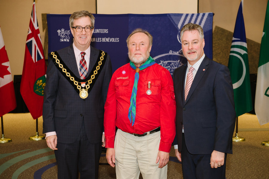 David Kent with Mayor Watson and Councillor Taylor