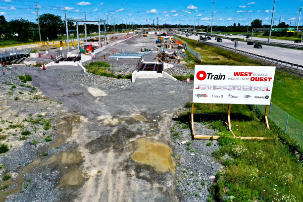 Photograph of the future LMSF with highway 417 to the right of the photo.