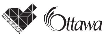 City of Ottawa logo and Public Art Program logo