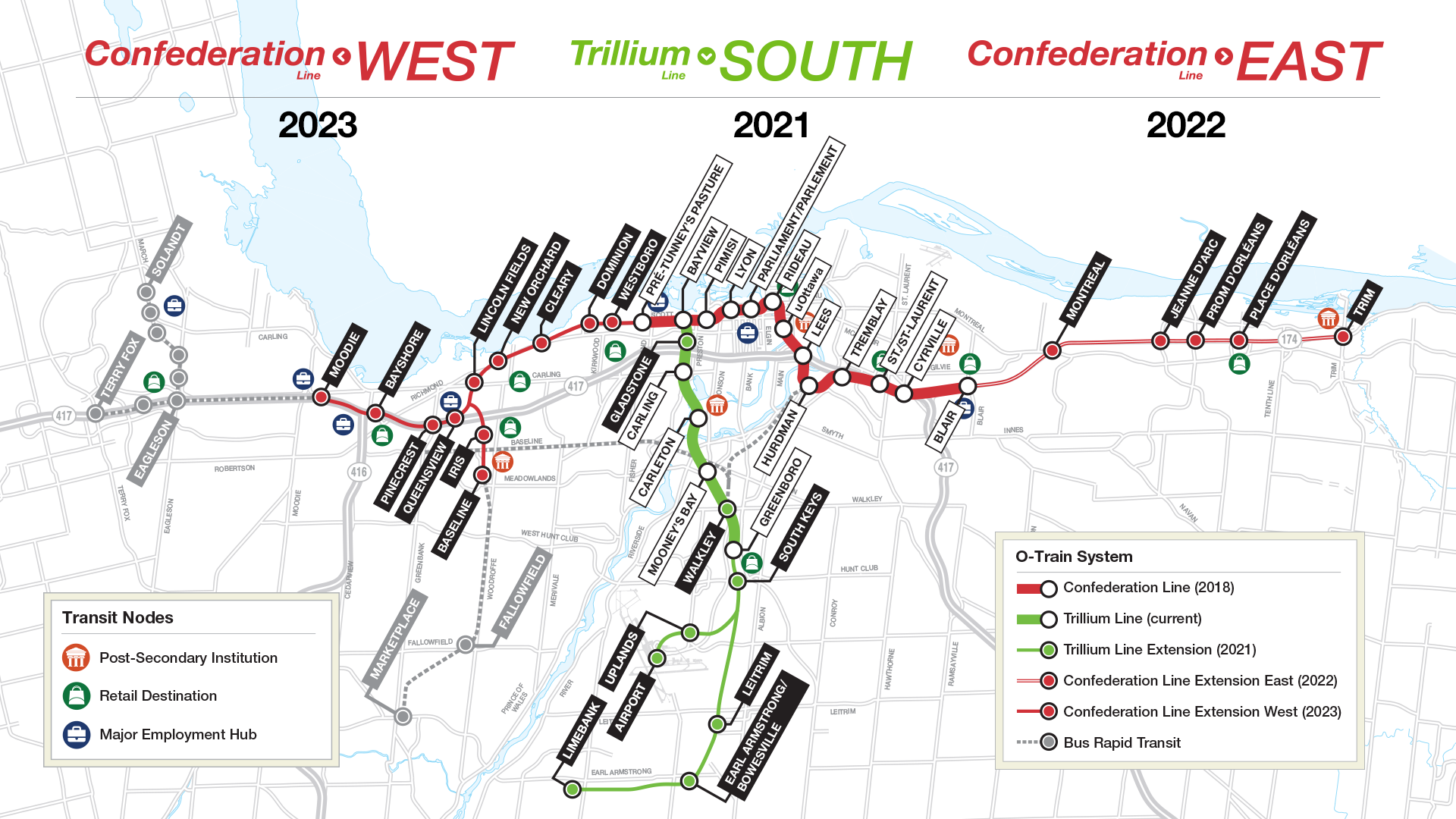 Map of Stage 2 LRT Alignment